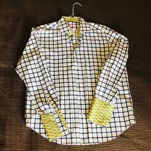 Robert graham plaid men's dress shirt